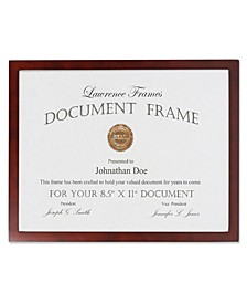 "755981 Espresso Wood Picture Frame - 8.5"" x 11"""