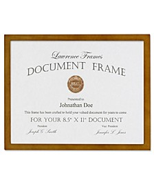 "Nutmeg Wood Picture Frame - 8.5"" x 11"""