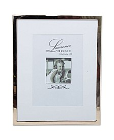 "710680 Silver Standard Metal 8x10 Matted For Picture Frame - 5"" x 7"""