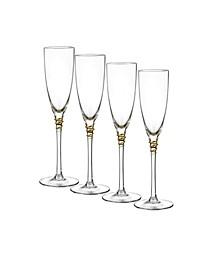 Helix Gold Flutes, Set Of 4
