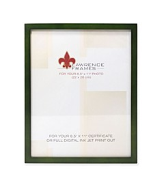 "Green Wood Certificate Picture Frame - Gallery Collection - 8.5"" x 11"""
