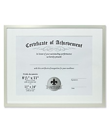 "Lawrence Frames Dual Use Silver Aluminium Document Frame - 11"" x 14"""