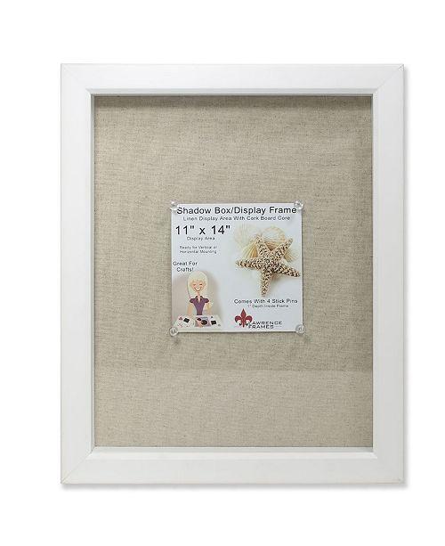 "Lawrence Frames White Shadow Box Frame - Linen Inner Display Board - 11"" x 14"""