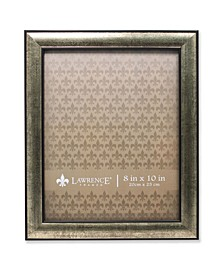 """Domed Burnished Silver and Black Picture Frame - 8"""" x 10"""""""