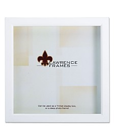 "Lawrence Frames 795255 White Wood Treasure Box Shadow Box Picture Frame - 5"" x 5"""