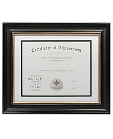"Dual Use Black Beaded Document Frame - 11"" x 14"""