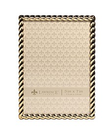 "Golden Rope Picture Frame - 5"" x 7"""