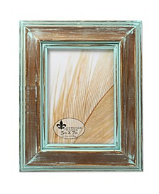 """Weathered Wood with Verdigris Wash Picture Frame - 5"""" x 7"""""""