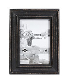 "Durham Weathered Black Wood Picture Frame - 4"" x 6"""