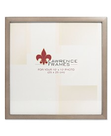 """Lawrence Frames Gray Wood Picture Frame - Gallery Collection - 10"""" x 10"""""""