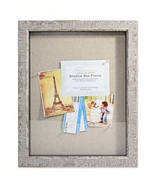"Weathered Birch Shadow Box - Linen Display Area - 11"" x 14"""