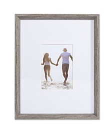 "Wide Border Matted Frame - Gallery Gray 11"" x 14"" - 5"" x 7"""