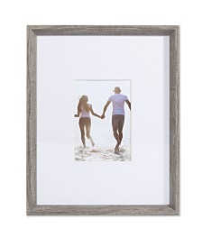 "Lawrence Frames Wide Border Matted Frame - Gallery Gray 11"" x 14"" - 5"" x 7"""