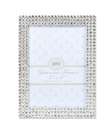 "Lawrence Frames Juliet Silver Metal Frame with Crystals - 5"" x 7"""