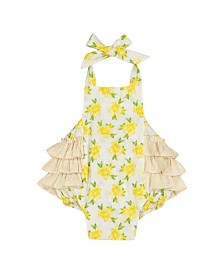 Masala Baby Girls Zoe One Piece Lemon Blossom