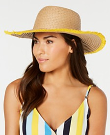 I.N.C. Pop Fray Edge Floppy Hat, Created for Macy's