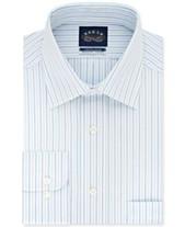 8b85457a7f Eagle Men's Classic/Regular Fit Non-Iron Flex Collar Blue Stripe Dress Shirt