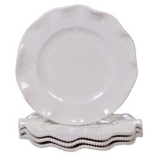 Certified International Perlette Cream Melamine 4-Pc. Dinner Plate Set