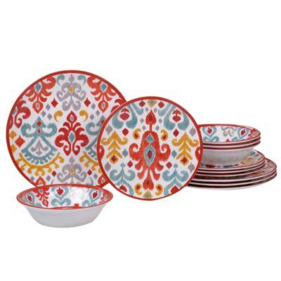 Bali Melamine 12-Pc. Dinnerware Set