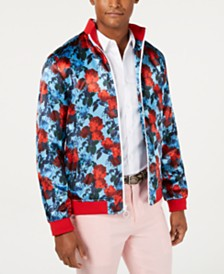 I.N.C. Men's Floral Track Jacket, Created for Macy's
