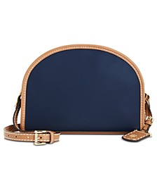 Julia Nylon Half Moon Crossbody