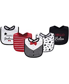 Cotton Drooler Bibs, 5 Pack, One Size