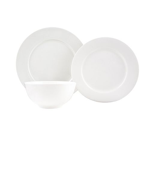 Red Vanilla Pure Vanilla Rimmed 18-piece Dinner Set