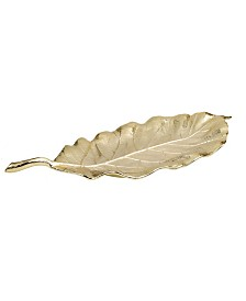 "Classic Touch 19.75"" Leaf Shaped Dish"