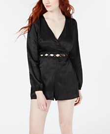 Material Girl Juniors' Cutout-Waist Romper, Created for Macy's