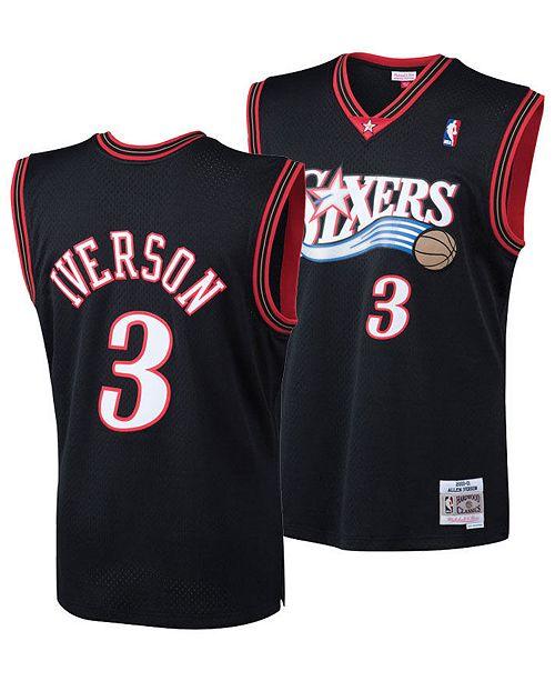the best attitude 3d134 4219a Mitchell & Ness Big Boys Allen Iverson Philadelphia 76ers ...