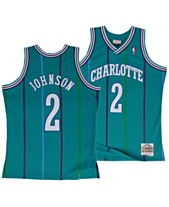 36051b15d Mitchell   Ness Big Boys Larry Johnson Charlotte Hornets Hardwood Classic  Swingman Jersey