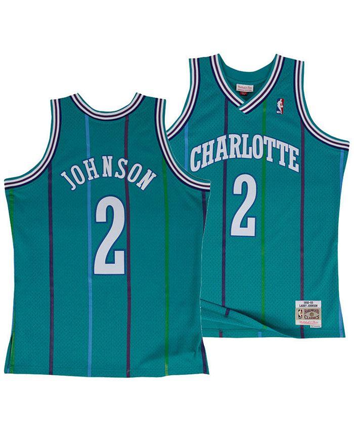 Big Boys Larry Johnson Charlotte Hornets Hardwood Classic Swingman Jersey