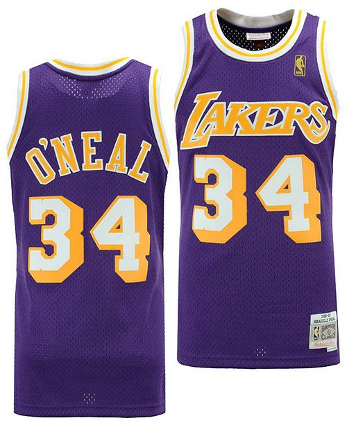 7ba7aa7fd ... Mitchell   Ness Big Boys Shaquille O Neal Los Angeles Lakers Hardwood  Classic Swingman ...