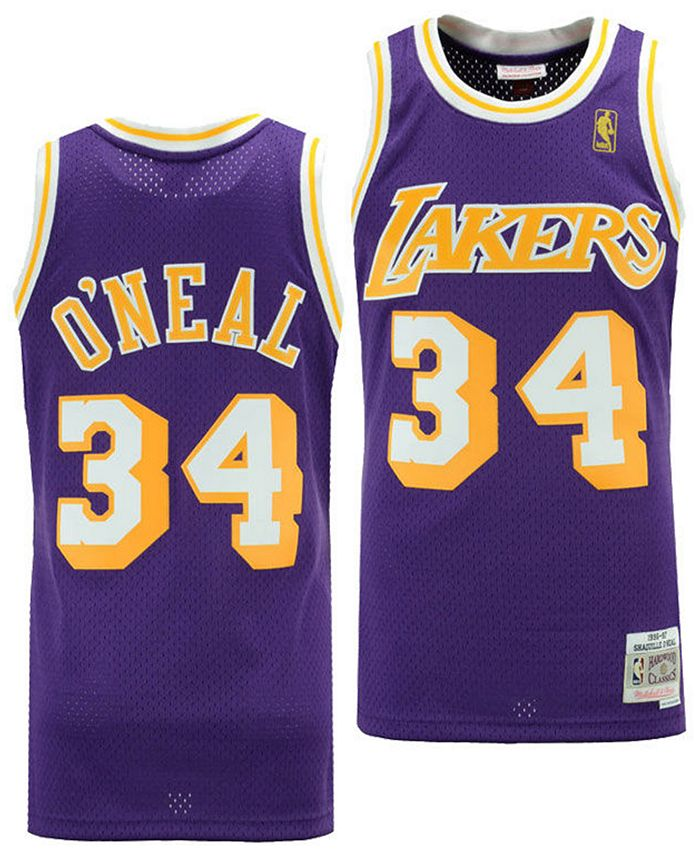 Big Boys Shaquille O'Neal Los Angeles Lakers Hardwood Classic Swingman Jersey
