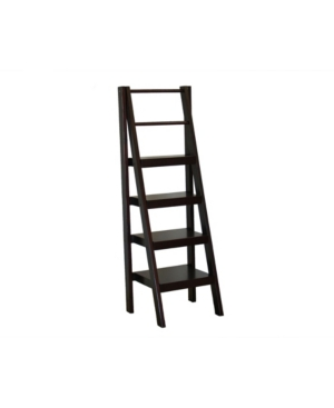 The distinctive styling of the Santa Fe 4-tier shelf stand features an eye-catching, mid-century modern design to show off your books and decor in artistic style!