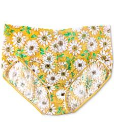 Hanky Panky Women's Plus Size Retro Lace Daisies V-kini 5K2122X
