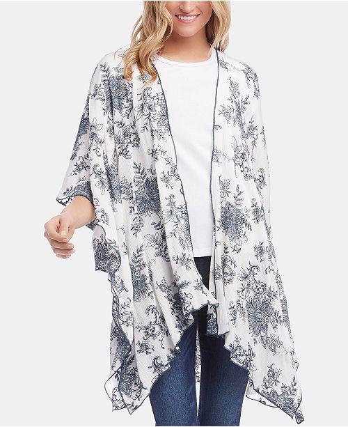 c308cfba8b0 Karen Kane Printed Kimono Jacket & Reviews - Jackets & Blazers ...