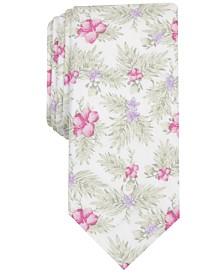 Bar III Men's Tropical Hibiscus Skinny Tie, Created for Macy's