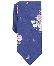 Bar III Men's Tossed Dobby Floral Skinny Tie, Created for Macy's