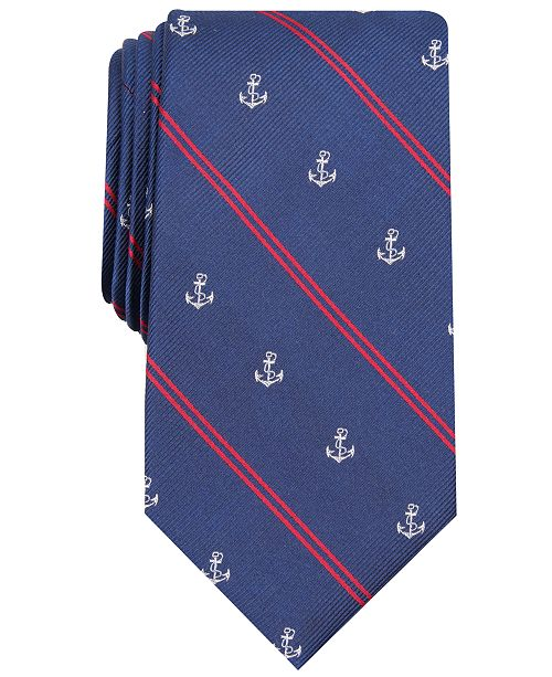 Club Room Men's Anchor Stripe Tie, Created for Macy's