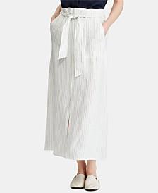 Lauren Ralph Lauren Striped Linen Skirt