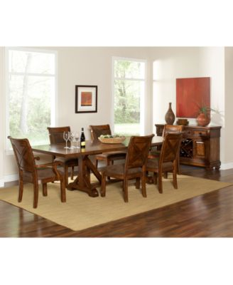 Image 4 Of Mandara 9 Pc. Dining Room Set (Dining Trestle Table,