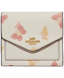 COACH Butterfly Print Small Wallet