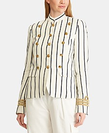 Lauren Ralph Lauren Striped Officer's Jacket