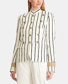 Lauren Ralph Lauren Striped Officer's Jacket