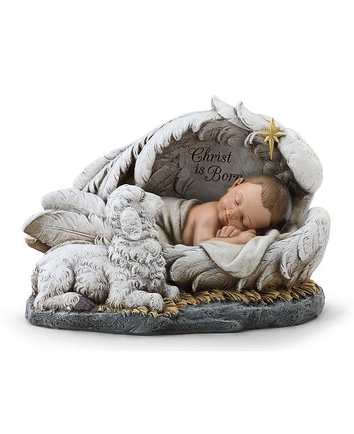 "Napco ""Christ is Born"" Baby in Wing, Created for Macy's"