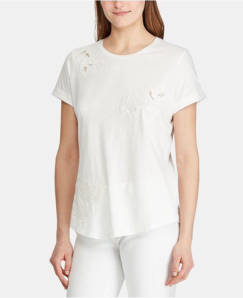 Lauren Ralph Lauren Floral-Lace T-Shirt