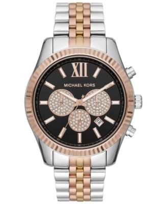 Men's Chronograph Lexington Tri-Tone Stainless Steel Bracelet Watch 44mm