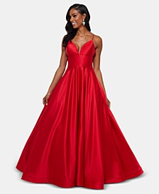Petite V-Neck Ball Gown