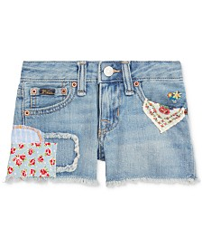 Polo Ralph Lauren Toddler Girls Distressed Cotton Denim Shorts